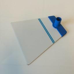 Voetplaat NT metaal - blauw accent