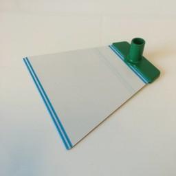 Voetplaat NT metaal - groen accent