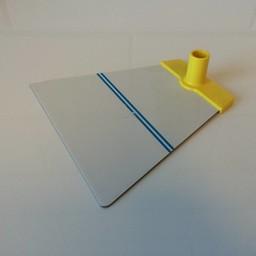 Voetplaat NT metaal - geel accent