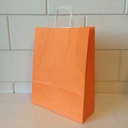 Draagtassen kraft oranje 32/12x41cm 200