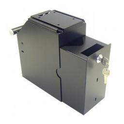 Cash-box 2-delig met 2 sleutels - zwart -