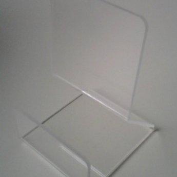 Acryl-boekensteun breed 75mm x120mm hoog en diep 85 mm