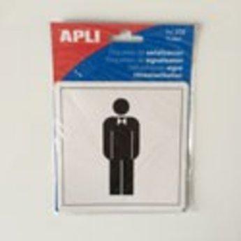 Apli APLI Signs - Nr. 00836 - WC Gentlemen - afmeting 114x114mm zelfklevend