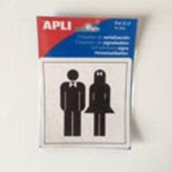 Apli APLI Signs - Nr. 00837 - WC Both - afmeting 114x114mm zelfklevend
