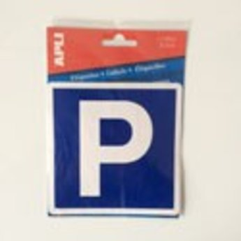 "Apli APLI Signs - Nr. 00840 - ""P"" Parking - afmeting 114x114mm zelfklevend"