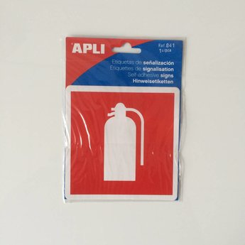Apli APLI Signs - Nr. 00841 - Fire Extinguisher - afmeting 114x114mm zelfklevend