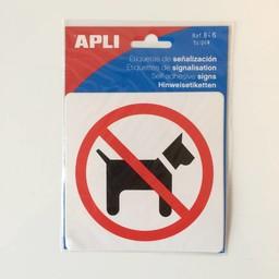 Apli Pictogram  Verboden voor honden