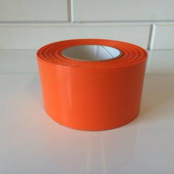 Afbakeningslint - afzetlint 250 m x 8cm oranje. Materiaal is van Polyethyleen, het is grondwaterneutraal en milieuvriendelijk.