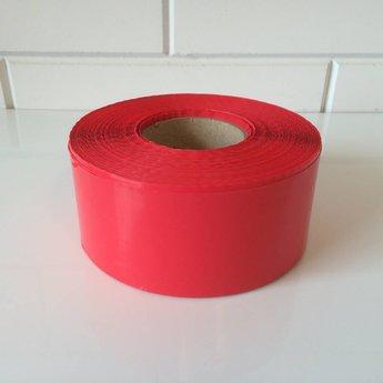 Afbakeningslint - afzetlint 250 m x 8cm rood. Materiaal is van Polyethyleen, het is grondwaterneutraal en milieuvriendelijk.