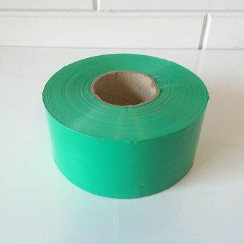 Afbakeningslint - afzetlint 250 m x 8cm groen. Materiaal is van Polyethyleen, het is grondwaterneutraal en milieuvriendelijk.