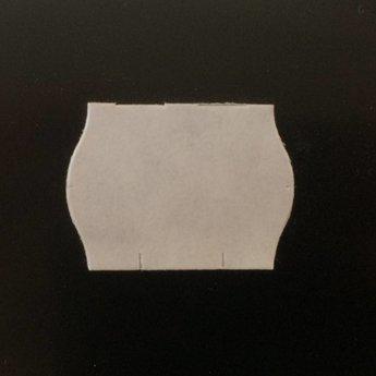 Etiket 22x16 golfrand wit permanent, doosinhoud  42.000 etiketten. 42 Rollen