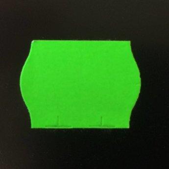 Etiket 22x16 golfrand fluor groen permanent  doosinhoud 42.000 etiketten.  42 Rollen