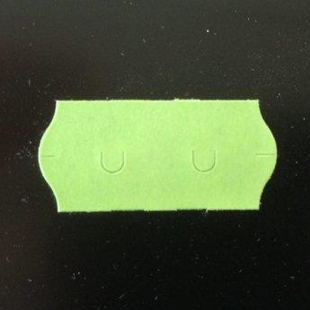 Etiket 26x12 golfrand groen permanent  2-sl  54.000  (=36 rollen a 1500 etiketten) Gommering / kleefkracht 2