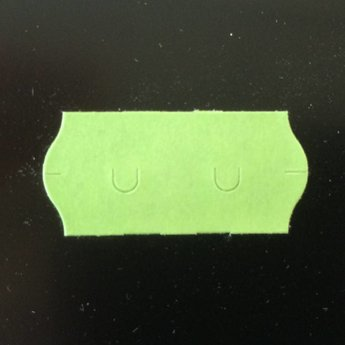 Etiket 26x12 golfrand groen afneembaar  2-sl  54.000  (=36 rollen a 1500 etiketten)