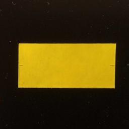Etiket 2612 rechthoek geel perm 2slit