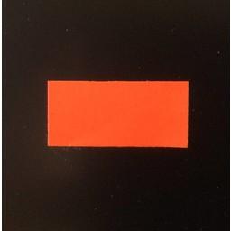Etiket 2612 rechthoek fluor rood perm