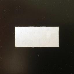 Etiket 2612 rechthoek wit semie-permanen