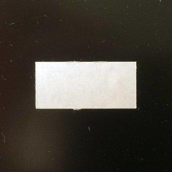 Etiket 26x12 rechthoek wit semie-permanent 2slit  54.000 etiketten.  (36 rollen