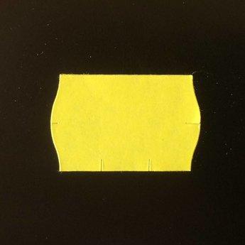 Etiket 2516 geel permanent 2-slit golfrand  39.600 etiketten ( 36 rollen