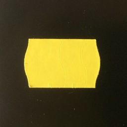 Etiket 2516 golf geel perm zekerstanzing