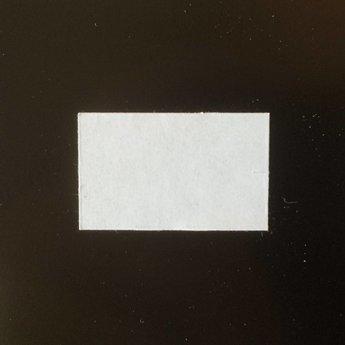 Etiket 26x16 rechthoek wit diepvries -2slit 36.000  (36 rollen