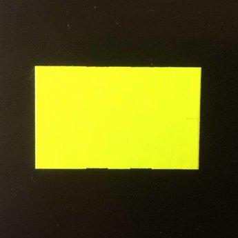 Etiket 26x16 rechthoek fluor geel semie-permanent -2slit 36.000  (36 rollen