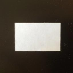 Etiket 2619 wit perm recht