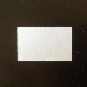 Etiket 2619 wit perm recht, verpakt per 36 rollen