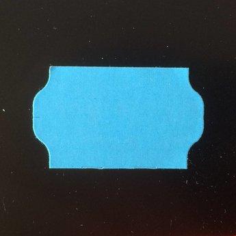 Etiket 3219 golfrand blauw permanent 2slit, doosinhoud 30 rollen