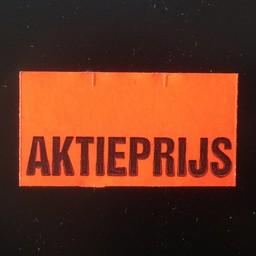 Etiket 3719 fluor rood AKTIEPRIJS onder