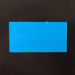 Etiket 3719 blauw afn 2slit recht 25.000