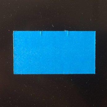 Etiket 3719 rechthoek blauw afneembaar 2slit, doosinhoud 25 rollen