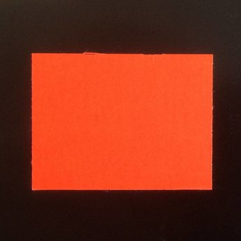 Etiket 3728 fluor rood permanent  25 rollen