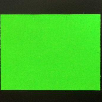 Etiket 3728 fluor groen permanent  25 rollen