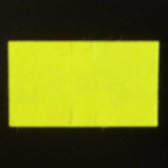 Etiket Sato PB-1 fluor geel afneembaar , afmeting 18x10.3mm, doosinhoud 50 rollen