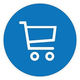 Pictogram sticker: Gebruik winkelwagen verplicht