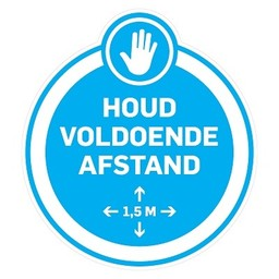 (DUTCH) Pictogram sticker: Keep distance