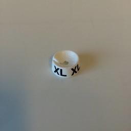 MB wit/zwart  XL voor op kledinghanger