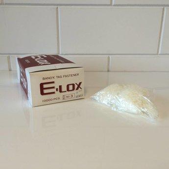 Banok Banok veiligheidssluitingen Lox nylon 3 inch / 75mm 10.000 stuks per doosje.