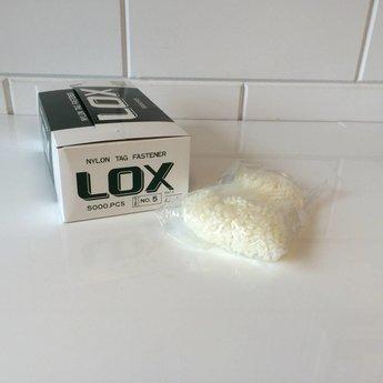 Banok Banok veiligheidssluitingen Lox nylon 5 inch / 125mm 5.000 stuks per doosje.