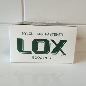 Banok Banok veiligheidssluitingen Lox nylon 9 inch / 225mm 5.000 stuks per doosje.