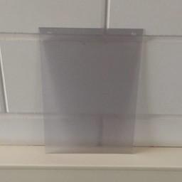 Prijskaarthoes vertikaal voor 210x297 mm