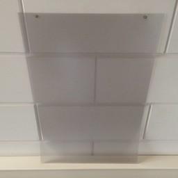 Prijskaarthoes vertikaal voor 420x594 mm