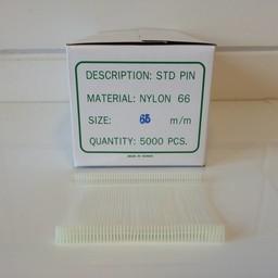 Nylon textielpins  65mm standaard 5000st