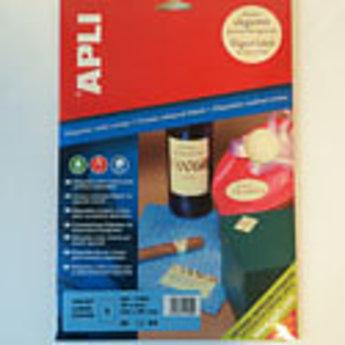 Apli Apli-nr. 11802  Laser/inkjet/kopieer-etiketten op A4 vellen, kleur cr
