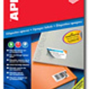 Apli Apli-nr. 11709  Laser/inkjet/kopieer-etiketten op A4 vellen, opaque > schijnt niet door <  etiketafmeting 210x297mm blister