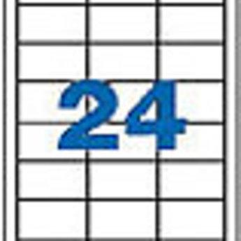 Apli Apli-nr. 11708  Laser/inkjet/kopieer-etiketten op A4 vellen, opaque > schijnt niet door < etiketafmeting 70x37mm blister