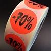 Etiket fluor rood 27mm -70% 500/rol