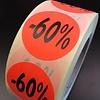 Etiket fluor rood 27mm -60% 500/rol