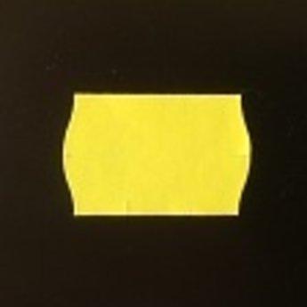 Etiket 2516 golfrand geel diepvries kleefkracht  39.600 etiketten. ( 36 rollen